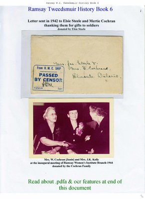 Ramsay W.I. Tweedsmuir Community History - Volume 6