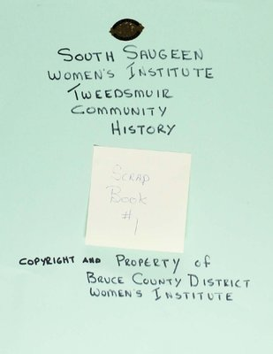 South Saugeen WI Scrapbook, Volume 1