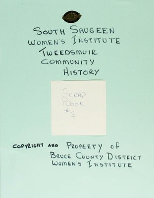 South Saugeen WI Scrapbook, Volume 2