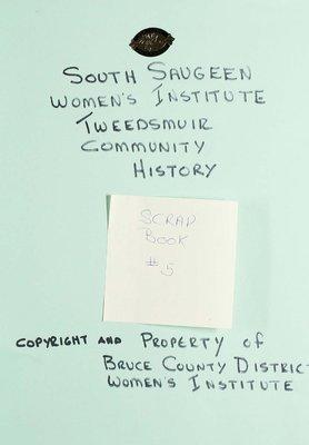 South Saugeen WI Scrapbook, Volume 5