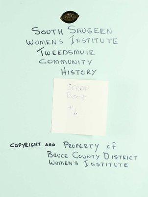 South Saugeen WI Scrapbook, Volume 6