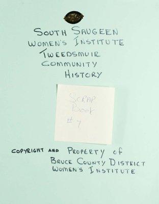 South Saugeen WI Scrapbook, Volume 7