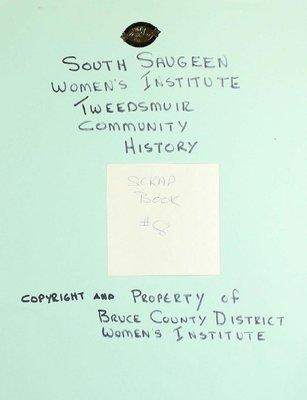South Saugeen WI Scrapbook, Volume 8