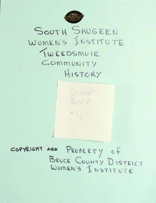 South Saugeen WI Scrapbook, Volume 9
