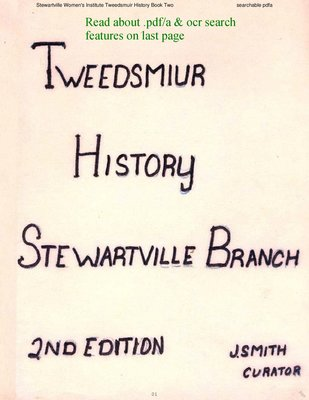 Stewartville WI Tweedsmuir Community History - Volume 2