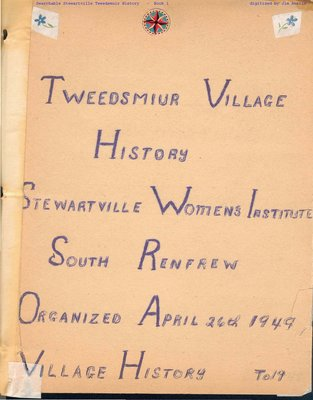 Stewartville WI Tweedsmuir Community History - Volume 6