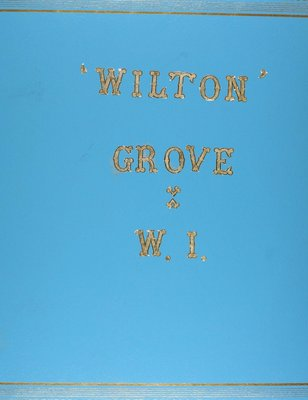 Wilton Grove WI, Blue Scrapbook