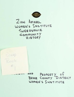 Zion Amabel WI Scrapbook, Volume 1