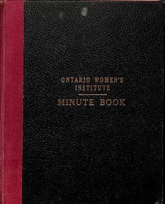 Amherst Island WI Minute Book: 1952-57