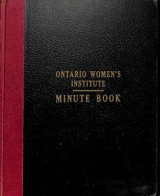 Amherst Island WI Minute Book: 1965-69
