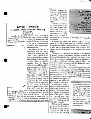 Amherst Island Tweedsmuir History, Volume 2 F5 1980-98