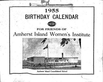 Amherst Island WI Calendar 1955