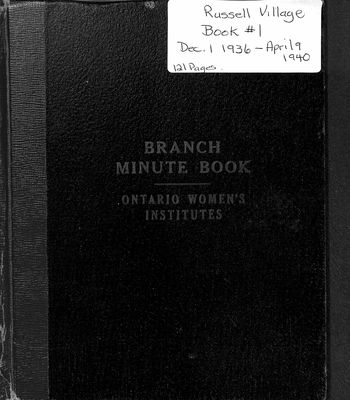 Russell Village Women's Institute Minute Book, 1936-40
