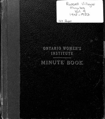 Russell Village, Minutes, Volume 4 1948-52