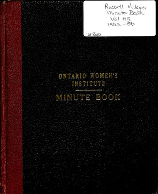 Russell Village Women's Institute Minute Book, 1952-58