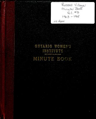 Russell Village Women's Institute Minute Book, 1963-68