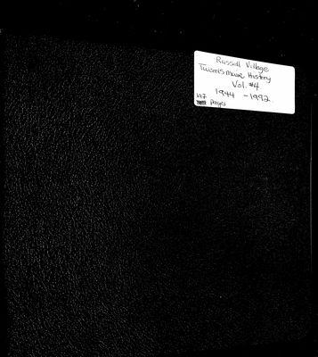 Russell Village Tweedsmuir History, Volume 4 1944-92