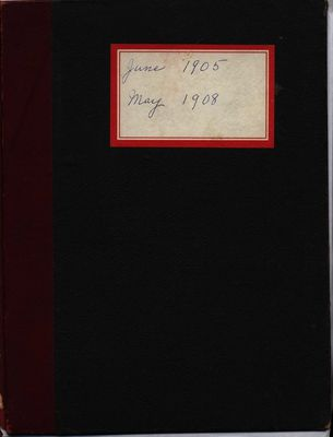 Stoney Creek Minute Book, 1905-1908