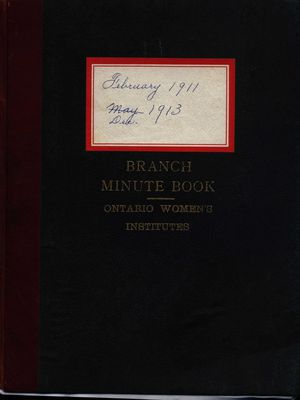 Stoney Creek WI Minute Book, 1911-1913