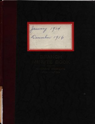 Stoney Creek WI Minute Book, 1914-1916