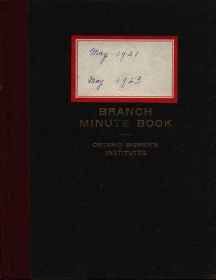 Stoney Creek WI Minute Book, 1921-1923