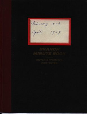 Stoney Creek WI Minute Book, 1926-1927