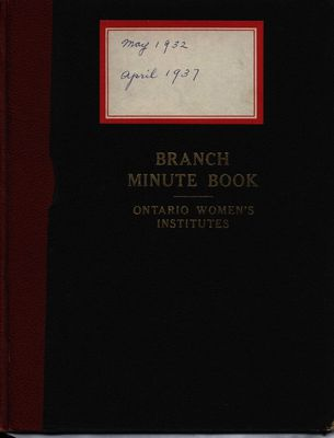 Stoney Creek WI Minute Book, 1932-1937
