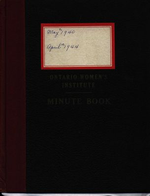 Stoney Creek WI Minute Book, 1940-1944
