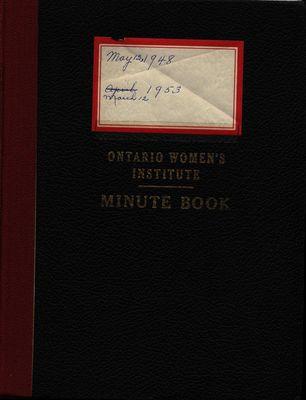 Stoney Creek WI Minute Book, 1948-1953