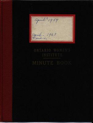 Stoney Creek WI Minute Book, 1959-1963