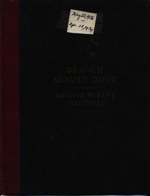 Winona WI Minute Book, 1936-1939
