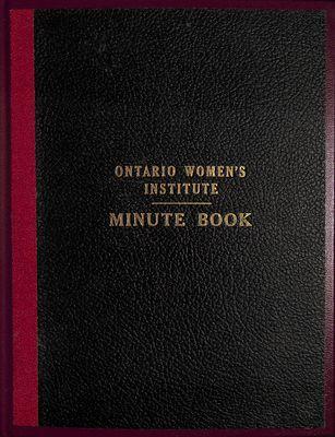 Winona WI Minute Book, 1952-1958