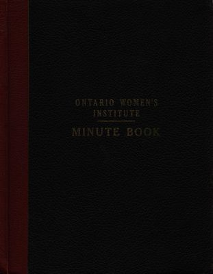Winona WI Minute Book, 1957-1962
