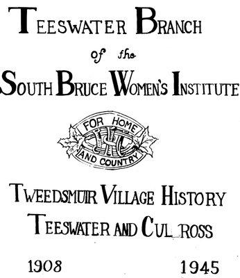 Teeswater Tweedsmuir History