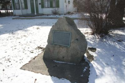 1961 Stone Cairn and Plaque at the Erland Lee (Museum) Home