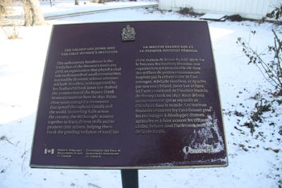 National Historic Site Plaque at Erland Lee (Museum) Home