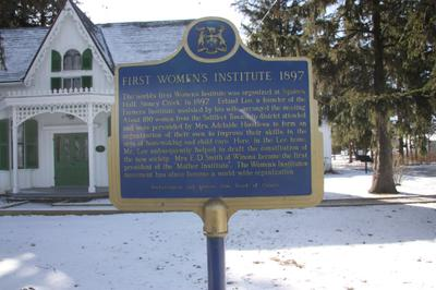 Ontario Historic Site Plaque at Erland Lee (Museum) Home