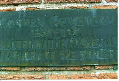 Goshen Cemetery Plaque