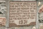 Farnham Cemetery Gate 1931 - Plaque