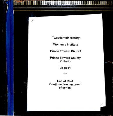 Prince Edward District WI Tweedsmuir Community History, Volume 1