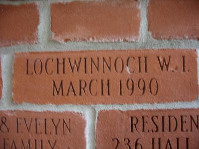Lochwinnoch W.I. brick