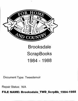 Brooksdale WI Scrapbook: 1984-1988