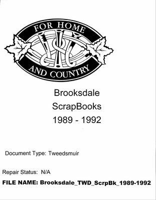 Brooksdale WI Scrapbook: 1989-1992
