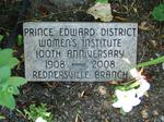 Prince Edward District W.I. 100th Anniversary: Rednersville WI