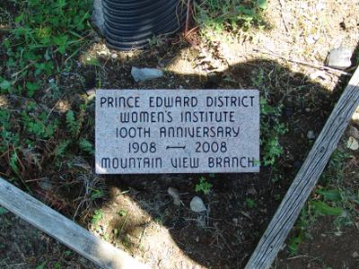 Prince Edward District W.I. 100th Anniversary: Mountain View WI
