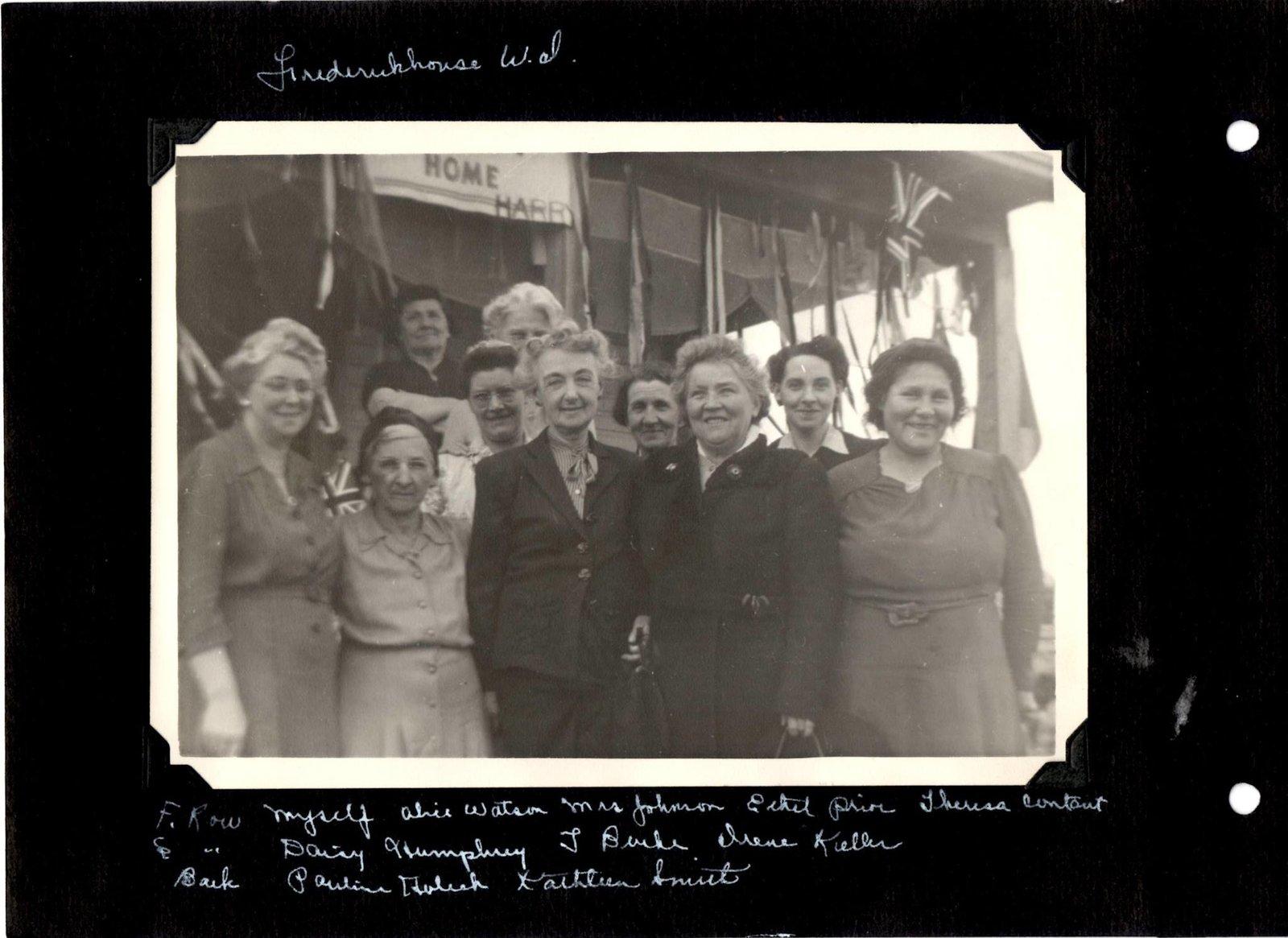 Frederickhouse WI Group Photo, 1940s
