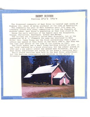 Bent River WI Tweedsmuir Community History, Volume 2: School