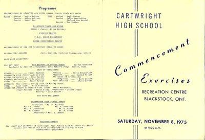 Blackstock WI Tweedsmuir Community History, Cartwright High School Scrapbook