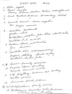 Castleton WI Scrapbook, 2002, Volume 3
