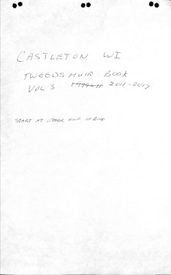 Castleton WI Tweedsmuir Community History, Volume 3, 2011-17